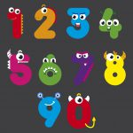 1 – 10 Number Faces
