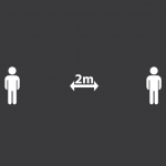 Social Distancing 2m Marking